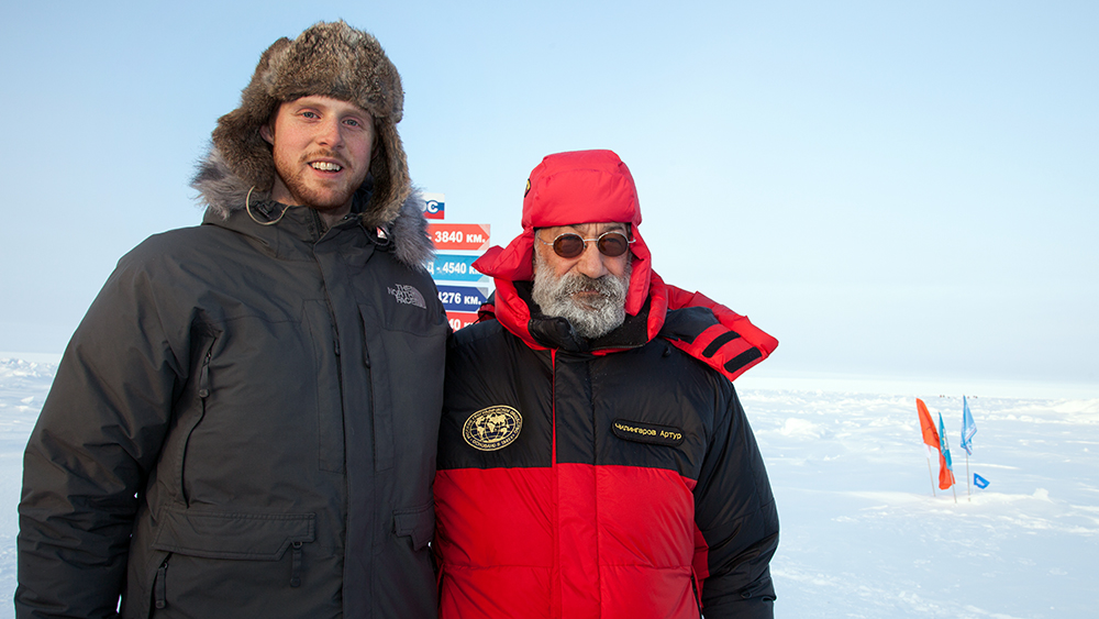 Artur Chilingarov and Marcel Schütz at the North Pole 2012 ©-Marcel Schütz-2020
