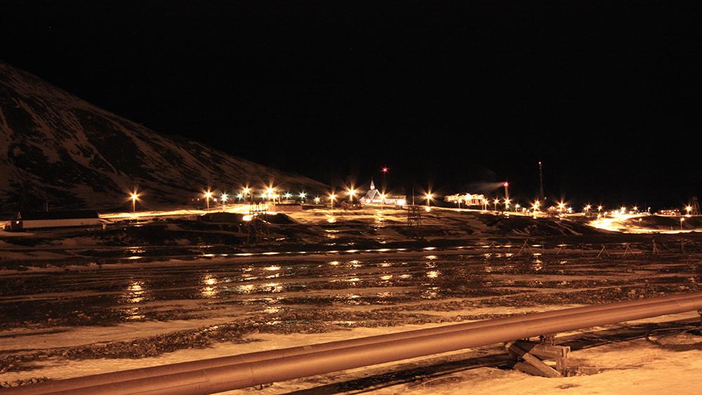 Longyearbyen in the dark season