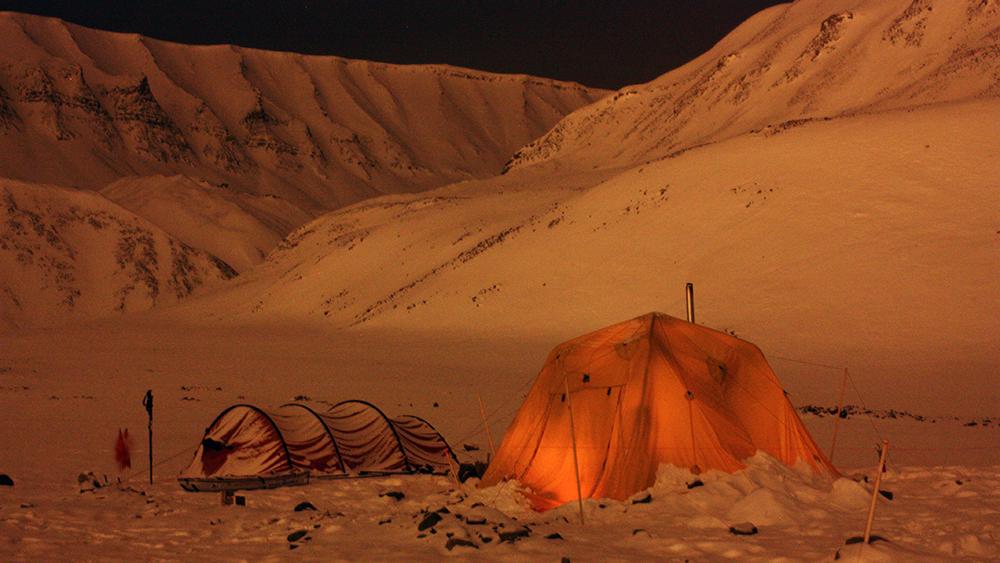 Mit dem Zelt auf Spitzbergen